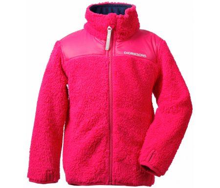 Didriksons Geite Kids Pile Jacket – Fleecejakke Børn – Pink