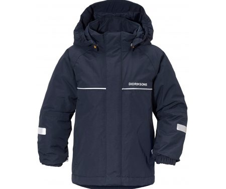 Didriksons Idde Kids Jacket – Vandtæt børnejakke m. for – Navy