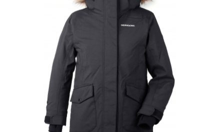 Didriksons Sassen Girls Parka – Vandtæt børnejakke m. for – Sort
