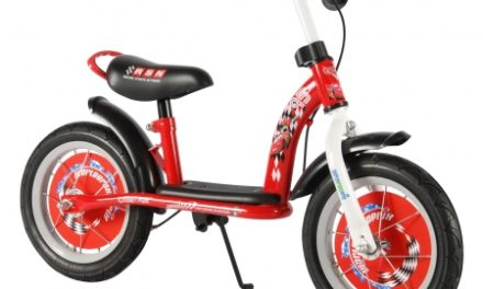 "E & L Disney Cars – Løbecykel – Rød/hvid – 12"""