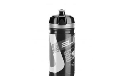 Elite Corsa – Drikkeflaske 550ml  – 100% Biologisk nedbrydelig – Sort/Sølv