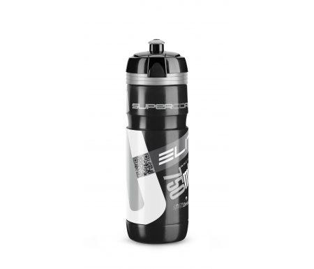 Elite Corsa – Drikkeflaske 750ml  – 100% Biologisk nedbrydelig – Sort/Sølv