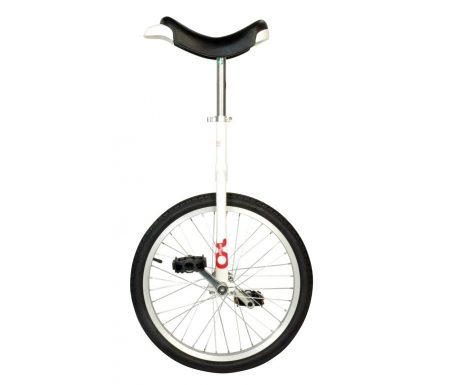 """Ethjulet cykel 20"""" hjul Hvid"""