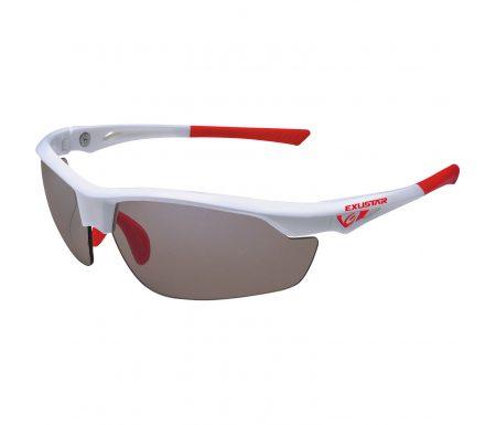 Exustar – Løbe- og cykelbrille –  Fotokromiske linser – Hvid og rød