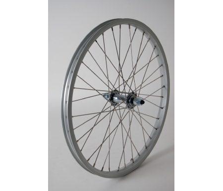 Forhjul 20 x 1,75 sølv fælg/sølv nav