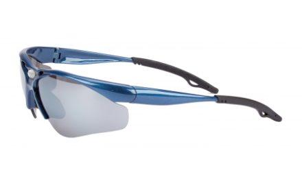 Glissado – Løbe- og cykelbrille – Metalblå.