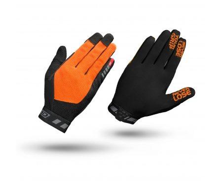 GripGrab 1064 Vertical – Cykelhandsker til MTB – Lang – Orange/Sort