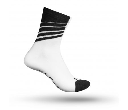 GripGrab 3014 Racing Stripes – Cykelstrømpe – Hvid/Sort