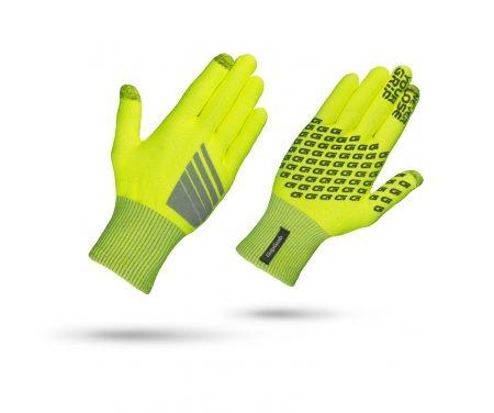 GripGrab Primavera – Hi-Vis touchskærm cykelhandske – Neon gul