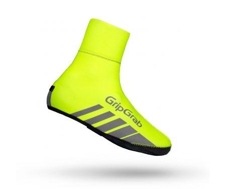 GripGrab Race Thermo Hi-Vis – Vind og vandtæt skoovertræk – Neon gul