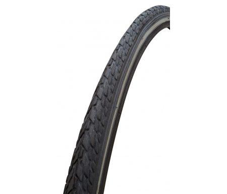 GRL dæk – 5101 med 5 mm beskyttelse – Str. 700x32C 28×1.1/4 (32-622) – Sort/refleks