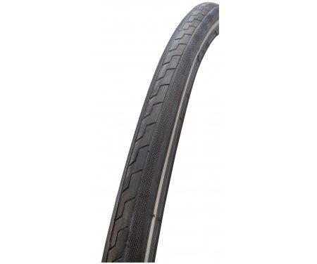 GRL dæk – 7011 med 3 mm indlæg – Str.700x28C 28×1.1/8 (28-622) – Sort/refleks