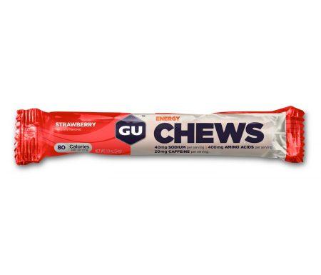 GU Chews – Energi vingummi – Strawberry – 54 gram