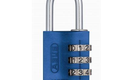 Hængelås Abus 145/30 blå med trecifret kode