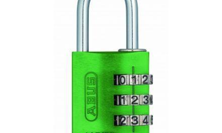 Hængelås Abus 145/30 grøn med trecifret kode