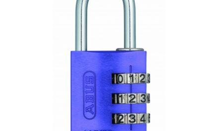Hængelås Abus 145/30 lilla med trecifret kode