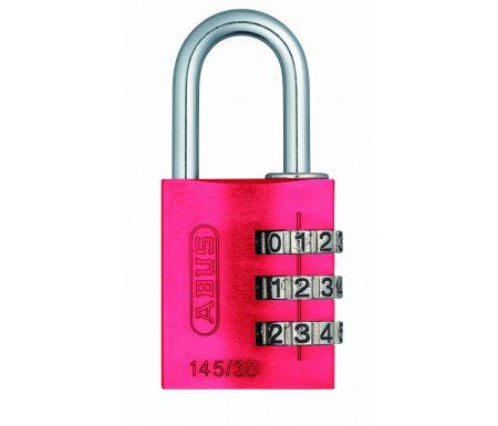 Hængelås Abus 145/30 rød med trecifret kode