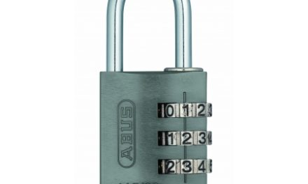 Hængelås Abus 145/30 titaniumfarvet med trecifret kode