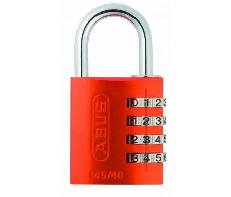 Hængelås Abus 145/40 orange med firecifret kode