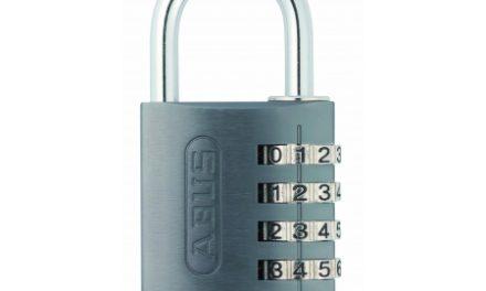 Hængelås Abus 145/40 titaniumsfarvet med firecifret kode