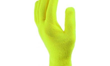 Handske Sealskinz Ultra Grip selvlysende med lange fingre
