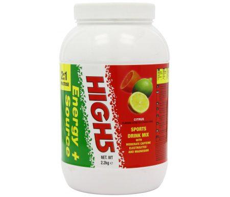 High5 Energy Source Plus – Energidrik med koffein – Citrus 2,2 kg – Testvinder
