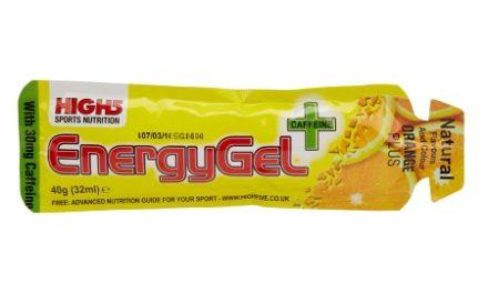 High5 EnergyGel+ – Appelsin 40 gram – 30mg Koffein