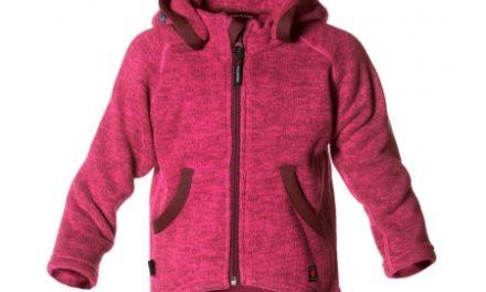 Isbjörn of Sweden Rib Sweater Hood – Fleecetrøje – Pink – Str. 122-128