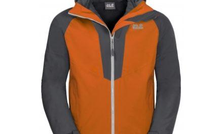 Jack Wolfskin Apex Peak JKT – Vandtæt 3i1 herrejakke – Orange/Grå