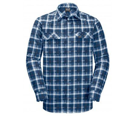 Jack Wolfskin Bow Valley Shirt – Skjorte herre – Tern Blå