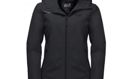 Jack Wolfskin Chilly Morning JKT W. – Vandtæt damejakke m. for – Sort