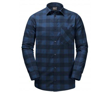 Jack Wolfskin Red River Shirt – Skjorte herre – Tern Blå