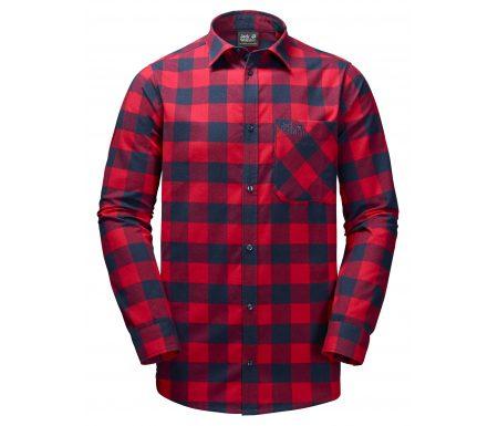 Jack Wolfskin Red River Shirt – Skjorte herre – Tern Rød