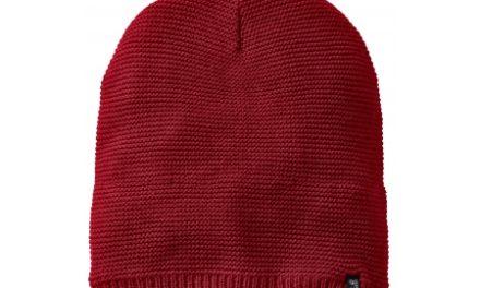 Jack Wolfskin Stormlock Knit Beanie – Hue Vindtæt – Rød – OS