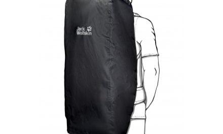 Jack Wolfskin Transporter 2in1 45 – 65 L – Flightbag/Regnslag – Sort