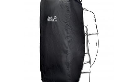Jack Wolfskin Transporter 2in1 65 – 85 L – Flightbag/Regnslag – Sort