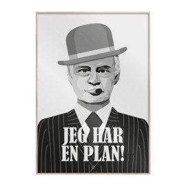 Jeg har en plan – Egon Olsen plakat fra Citatplakat
