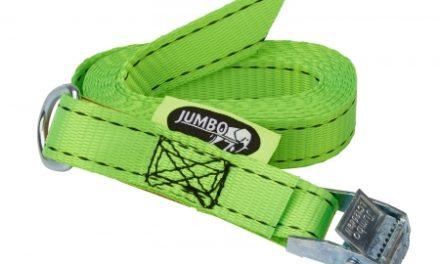 Jumbo strop til bagagerumsklap – Med ring og Quickstrammer – Grøn