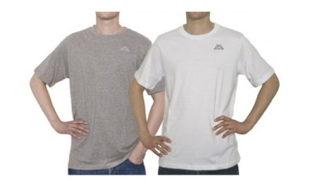 Kappa Cafers 2-pak T-shirt – Grå og hvid