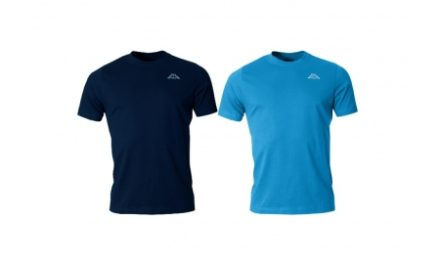 Kappa Cafers – 2 pak T-shirt – Sort og blå – Str. S