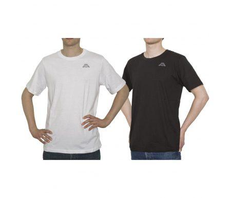 Kappa Cafers 2-pak T-shirt – Sort og hvid