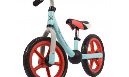 Kinderkraft 2Way Next – Løbecykel – Lyseblå/rød