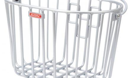 Klickfix cykelkurv i aluminium til styr montering – Sølv