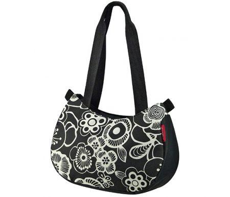 KLICKfix – Style bag – Sort med blomster 4 liter