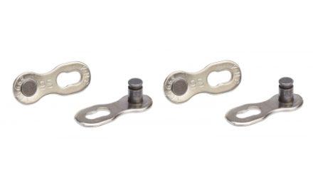 KMC samleled 2 stk til 9 gears kæde Sølv – Til kæde X9L og X9SL
