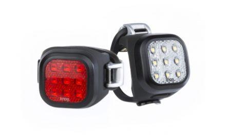 Knog – Cykellygtesæt Blinder Mini Niner – Sort – USB opladelig