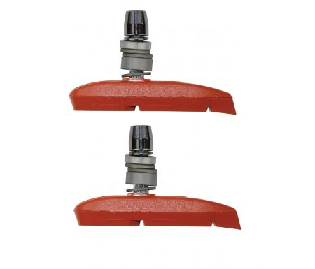 Kool Stop Supra 2 Salmon- Bremsesko til V-bremser MTB – Aluminiums fælge