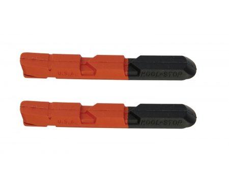 Kool Stop V-Type Salmon – Bremsegummi – Til V-bremser – Aluminiums fælge