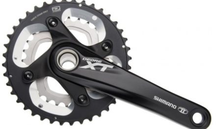 Kranksæt Shimano XT M785 Sort Dobbelt 38-26 tands 175 mm