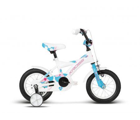 "Kross Cindy – Børnecykel – 12"" – Hvid/blå/pink"